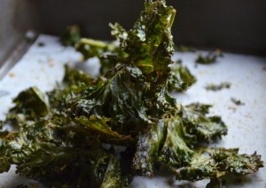 Spicy, crunchy kale chips