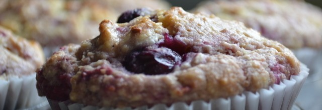 Wholemeal berry muffins