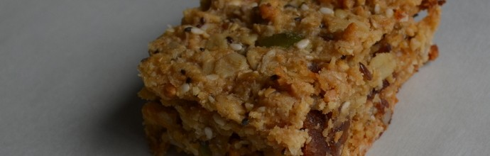 Better the devil you know – Home-made peanut butter & muesli slice